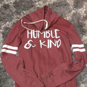 humble & kind pullover.